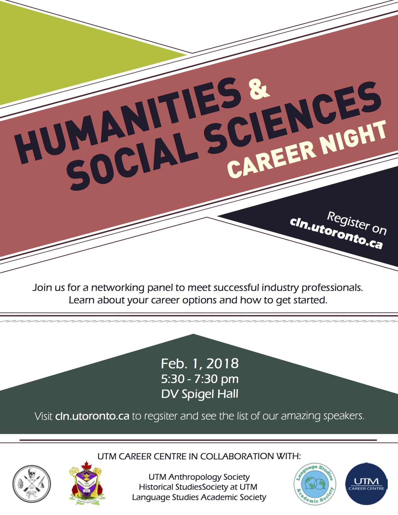 Humanities and Social Science Career Networking Night Feb. 1, 2018